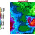 Figure 2. Seven day precipitation forecast from that National Weather Service representing May 19-26, 2020.