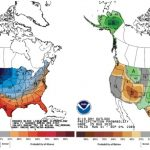 The national Climate Prediction Center's 6-10-day climate outlook for August 31 – September 4, 2020 where shading indicates probability of above- or below-normal temperature (left) and precipitation (right).